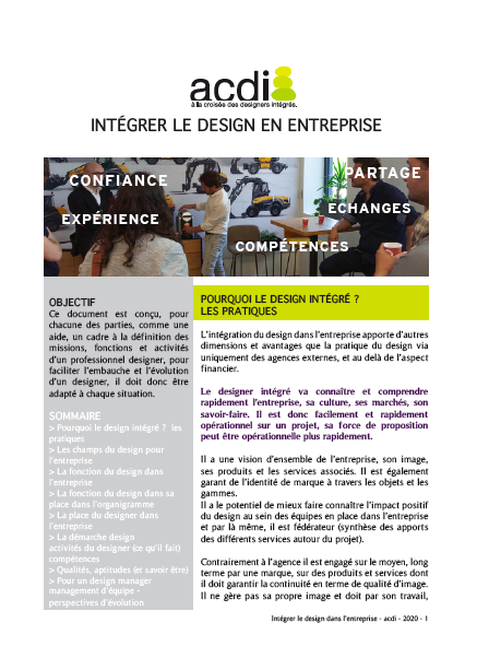 image du document sur le design intégré